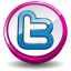 Twitter Pink Button Icon 64x64 png