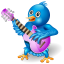 Twitter Singer Icon 64x64 png