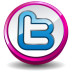 Twitter Pink Button Icon 72x72 png