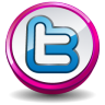 Twitter Pink Button Icon 96x96 png