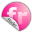 Flickr Pink Icon 32x32 png