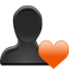 User 2 Save Bookmark Heart Icon