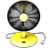 Yellow Fan Icon
