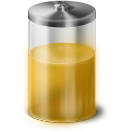 Yellow Battery Icon 256x256 png