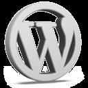 Grey WordPress Icon