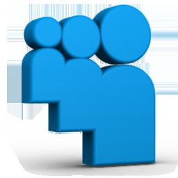 Blue Myspace Icon 256x256 png