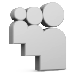 Grey Myspace Icon 256x256 png