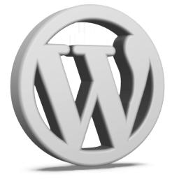 Grey WordPress Icon 256x256 png