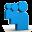 Blue Myspace Icon 32x32 png