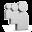 Grey Myspace Icon 32x32 png