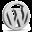 Grey WordPress Icon 32x32 png