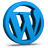 Blue WordPress Icon