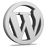 Grey WordPress Icon