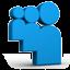 Blue Myspace Icon 64x64 png