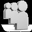 Grey Myspace Icon 64x64 png
