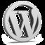 Grey WordPress Icon 64x64 png