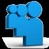 Blue Myspace Icon 96x96 png