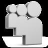 Grey Myspace Icon 96x96 png