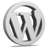 Grey WordPress Icon 96x96 png