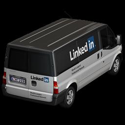 LinkedIn Back Icon 256x256 png