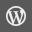 WordPress Grey Icon 32x32 png