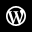 WordPress White Icon 32x32 png