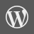 WordPress Grey Icon