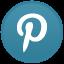 Pinterest Light Icon 64x64 png