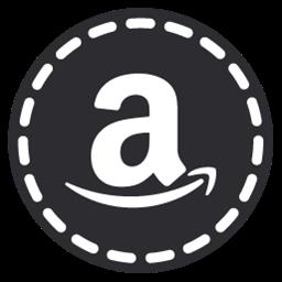 Amazon Icon - Hand Stitch Round Social Icons - SoftIcons.com Amazon Png File