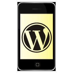 iPhone WordPress Icon 256x256 png