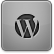 Black WordPress Icon