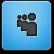 Blue Myspace Icon
