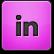 Pink LinkedIn Icon