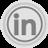 LinkedIn Grey Icon 48x48 png