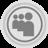 Myspace Grey Icon 48x48 png