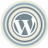 WordPress Blue Icon 48x48 png