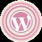 WordPress Pink Icon