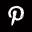 Pinterest Black Icon 32x32 png