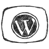 Black WordPress Icon 96x96 png