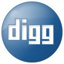 Social Digg Button Blue Icon 128x128 png