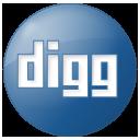 Social Digg Button Blue Icon