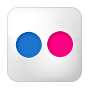Social Flickr Box Icon 128x128 png