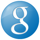 Social Google Button Blue Icon 128x128 png