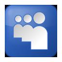Social Myspace Box Blue Icon