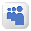 Social Myspace Box White Icon
