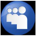 Social Myspace Button Blue Icon