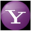 Social Yahoo Button Lilac Icon