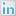 Social LinkedIn Box White Icon 16x16 png