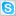 Social Skype Box White Icon 16x16 png