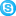 Social Skype Button Blue Icon 16x16 png